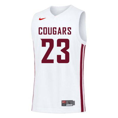 Men #23 Andrej Jakimovski Washington State Cougars College Basketball Jerseys Sale-White