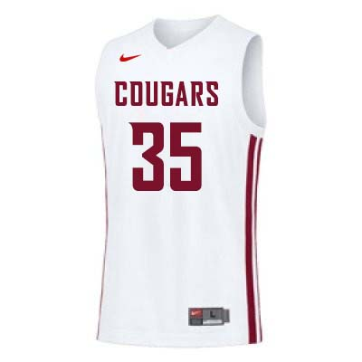 Men #35 Carter Skaggs Washington State Cougars College Basketball Jerseys Sale-White