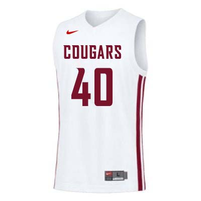 Men #40 Kwinton Hinson Washington State Cougars College Basketball Jerseys Sale-White