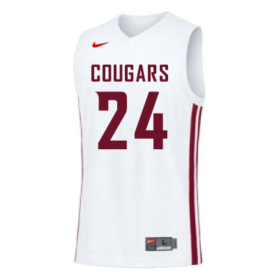 Men #24 Noah Williams Washington State Cougars College Basketball Jerseys Sale-White
