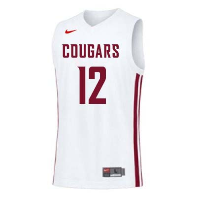Men #12 Steven Shpreyregin Washington State Cougars College Basketball Jerseys Sale-White