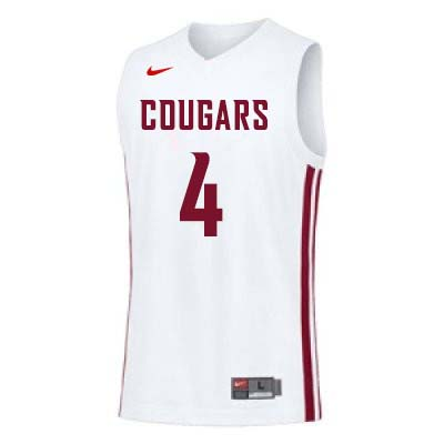 Men #4 Viont'e Daniels Washington State Cougars College Basketball Jerseys Sale-White - Click Image to Close