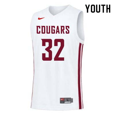 Youth #32 Davante Cooper Washington State Cougars College Basketball Jerseys Sale-White