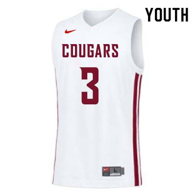 Youth #3 Robert Franks Washington State Cougars College Basketball Jerseys Sale-White