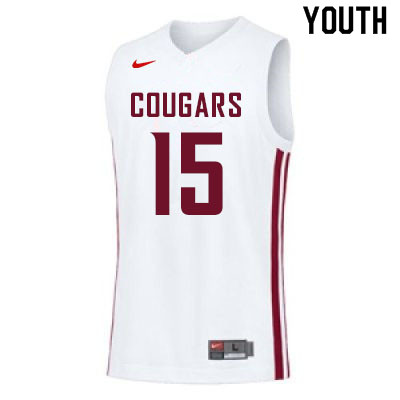 Youth #15 Volodymyr Markovetskyy Washington State Cougars College Basketball Jerseys Sale-White